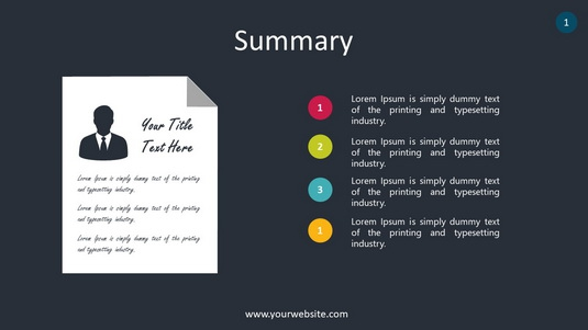 Summary PowerPoint Infographics