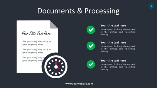 Documents & Processing PowerPoint Infographics