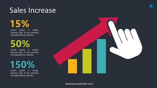 Sales Increase PowerPoint Infographics
