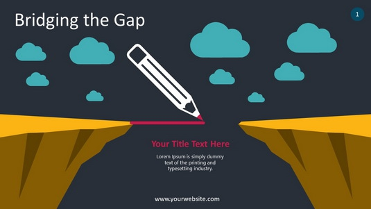 Bridging The Gap PowerPoint Infographics