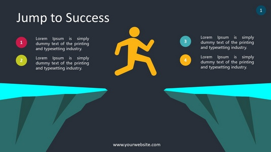 Jump To Success PowerPoint Infographics
