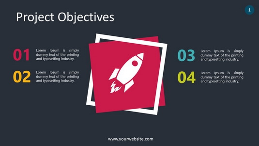 Project Objectives PowerPoint Infographics