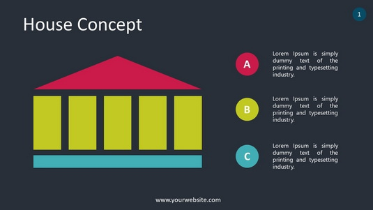 House Concept PowerPoint Infographics