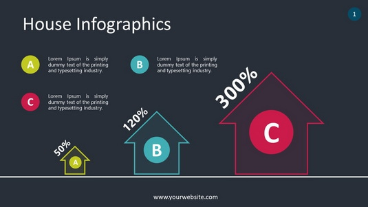 House Infographics PowerPoint Infographics