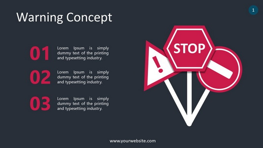 Warning Concept PowerPoint Infographics