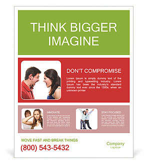Couple angry Poster Template