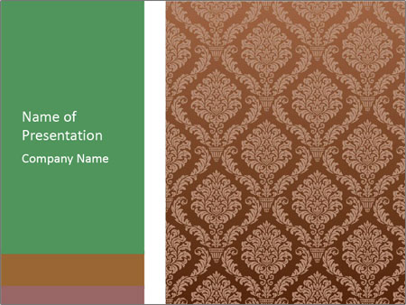 Brown Retro Wallpaper PowerPoint presentationsmallar