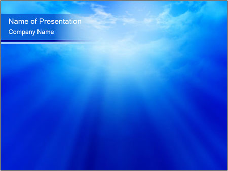 Light From The Heaven Powerpoint Template Infographics Slides