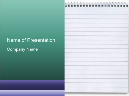 Blank Notebook Powerpoint Template Infographics Slides