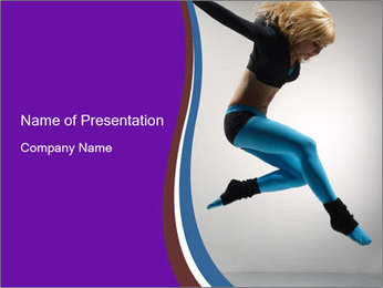 Energetic Contemp Dance PowerPoint Template