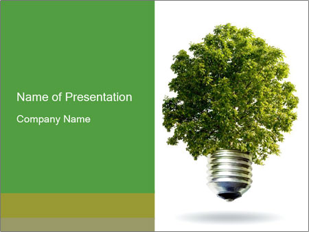 Eco Light Bulb PowerPoint Template