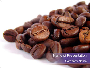 Pile of Coffee Beans I pattern delle presentazioni del PowerPoint