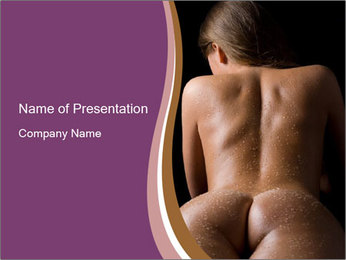 Naked Woman in Sauna PowerPoint-Vorlagen