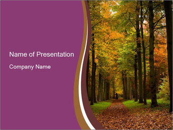 Forest in Autumn Season PowerPoint šablony