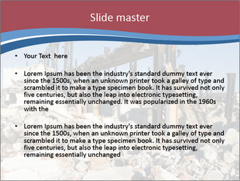 Demolished Industrial Building PowerPoint Template