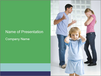 Kid and Quarreling Parents PowerPoint Template
