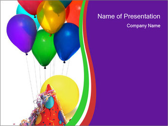 Birthday Party For Children Powerpoint Template Infographics Slides