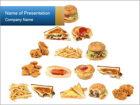 Junk Food Pyramid Powerpoint Template Infographics Slides