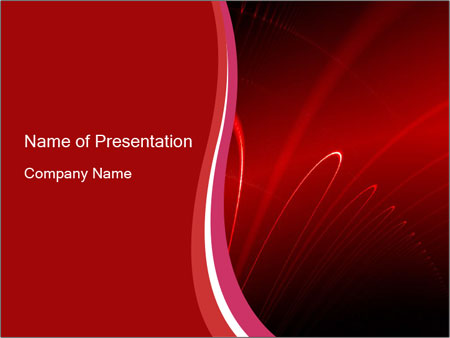Red Abstraction PowerPoint Template
