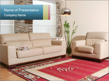 Living Room Furniture Powerpoint Template Backgrounds Google