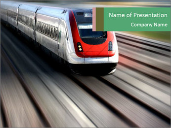 Comfortable Train PowerPoint Template