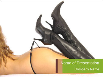 Sexy Leather High Hills PowerPoint Template