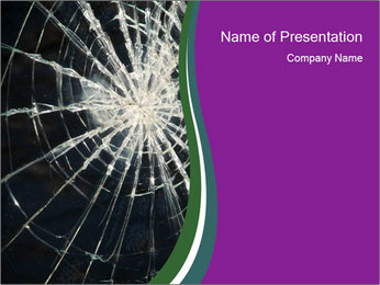 Cracked Glass PowerPoint Template