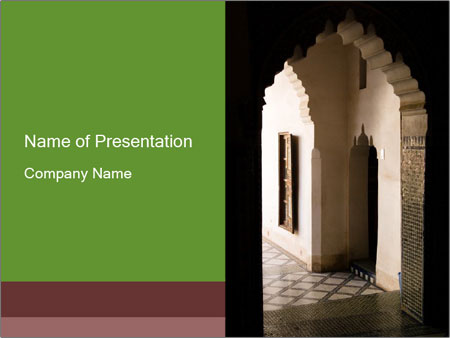 Doorway in Traditional Marrakech Style PowerPoint Template