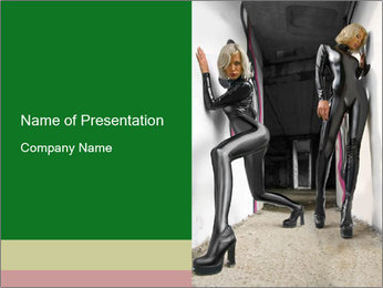 Elastic Female Costumes PowerPoint Template