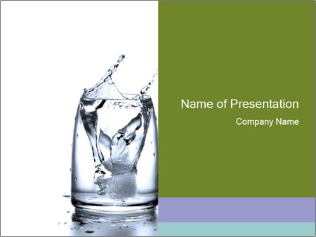 Pure Drinking Water PowerPoint Template