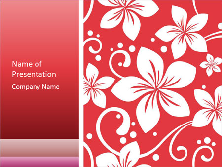 Flower Hawaiian Pattern Powerpoint Template Backgrounds Google