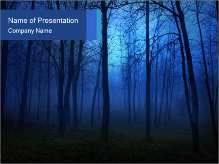 Scary Foggy Forest PowerPoint Template & Infographics Slides