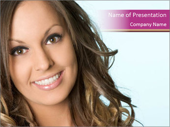 Smiling Girl with Perfect Teeth PowerPoint Template