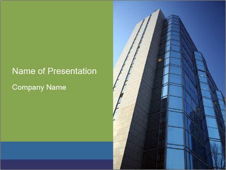 Modern Glass skyskrapa PowerPoint presentationsmallar