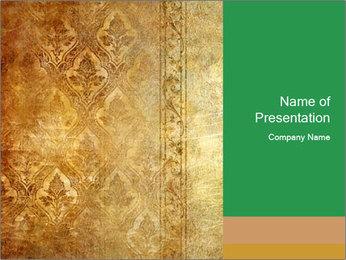 Ретро обои с классическим образцам Шаблоны презентаций PowerPoint