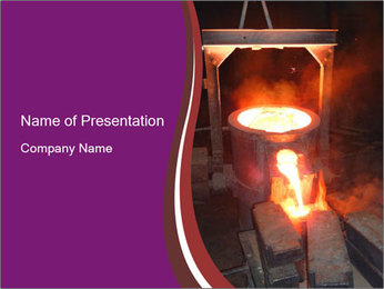 Liquid Metal Pouring PowerPoint Template