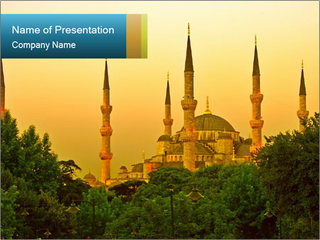 Muslim Mosque in Istanbul PowerPoint Template