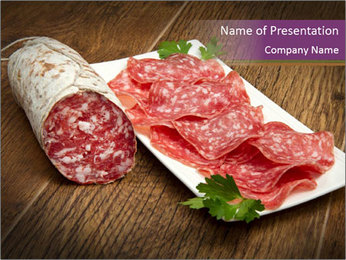 Slices Salami PowerPoint Template