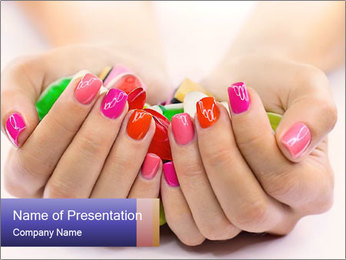 Sweets in Woman's Hands Шаблоны презентаций PowerPoint