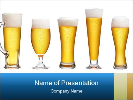 Alcohol Beer PowerPoint sunum şablonları