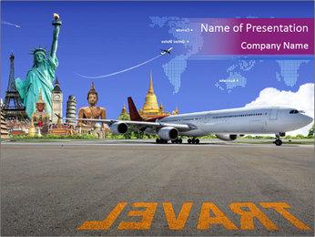 Travel Worldwide I pattern delle presentazioni del PowerPoint