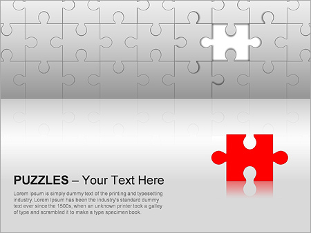 Puzzles Wall PPT Diagrams & Chart