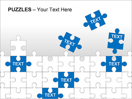 Puzzles Wall PPT Diagrams & Chart - Slide 10
