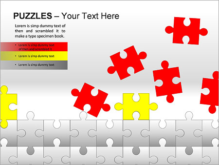 Puzzles Wall PPT Diagrams & Chart - Slide 11