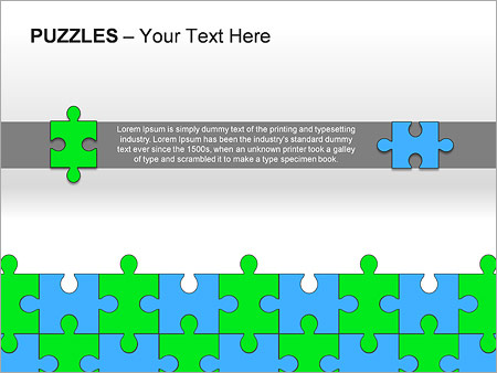 Puzzles Wall PPT Diagrams & Chart - Slide 12