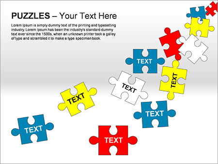 Puzzles Wall PPT Diagrams & Chart - Slide 13