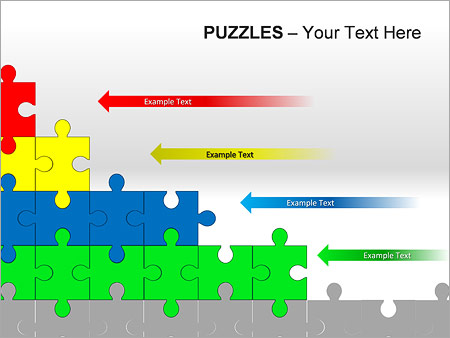 Puzzles Wall PPT Diagrams & Chart - Slide 14