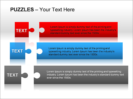 Puzzles Wall PPT Diagrams & Chart - Slide 19