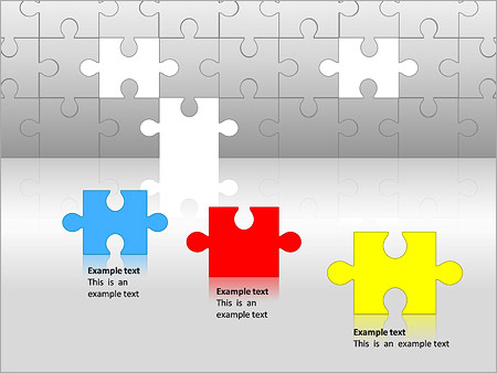 Puzzles Wall PPT Diagrams & Chart - Slide 2