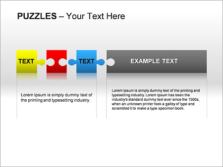 Puzzles Wall PPT Diagrams & Chart - Slide 21